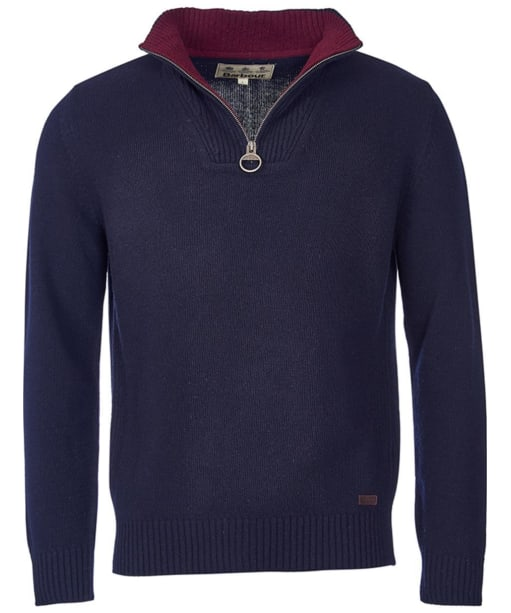 Men's Barbour Nelson Half Zip Sweater - Navy