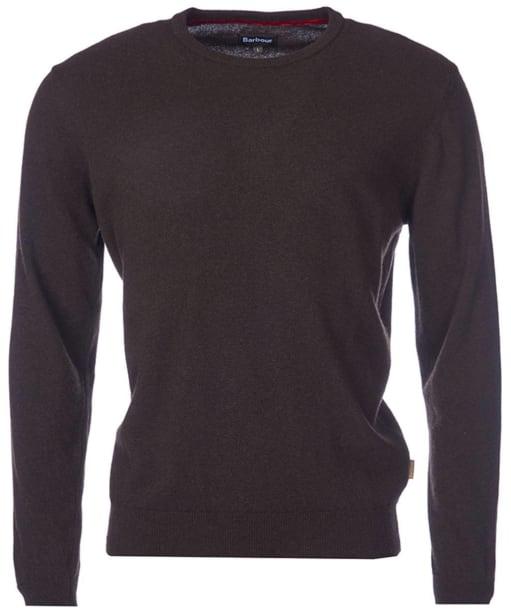 Men's Barbour Harrow Crew Neck Sweater - Dark Brown