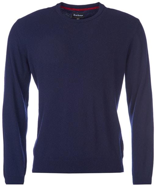 Men's Barbour Harrow Crew Neck Sweater - Dark Navy