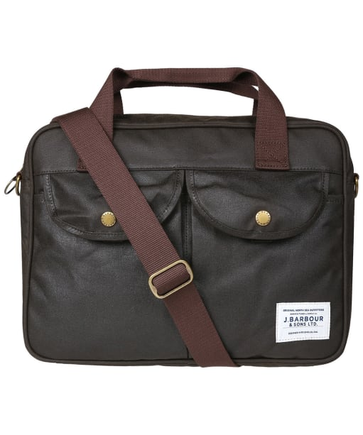 Barbour Longthorpe Wax Laptop Bag - Olive