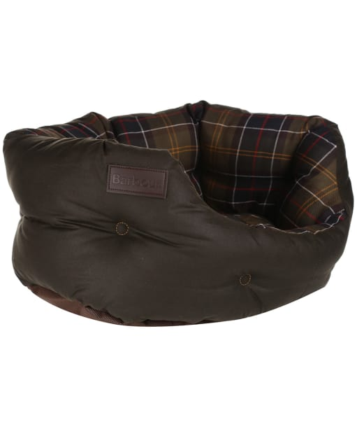 """Barbour Wax Cotton Dog Bed 18"""" - Classic / Olive"""
