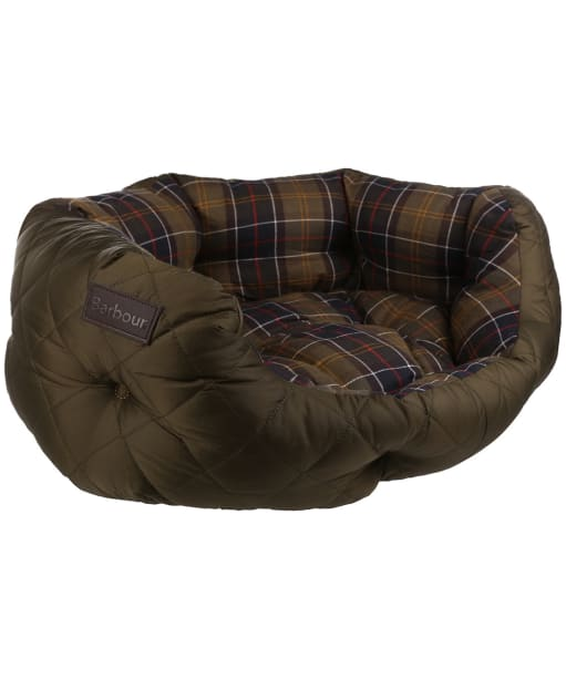 """Barbour 24"""" Quilted Dog Bed - Olive"""