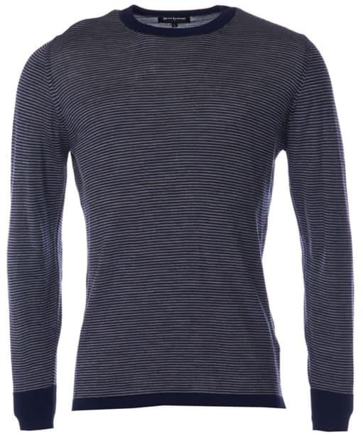 Men's Barbour Terrain Crew Neck Sweater - Navy