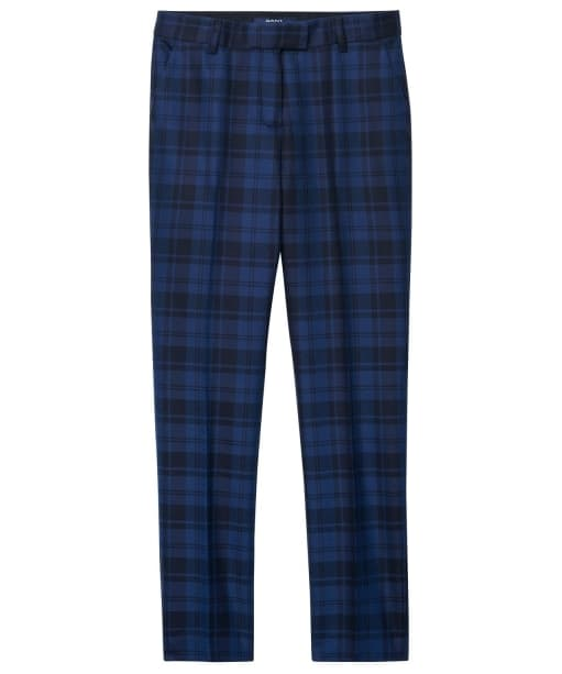 Women's GANT Checked Suit Pants - Navy
