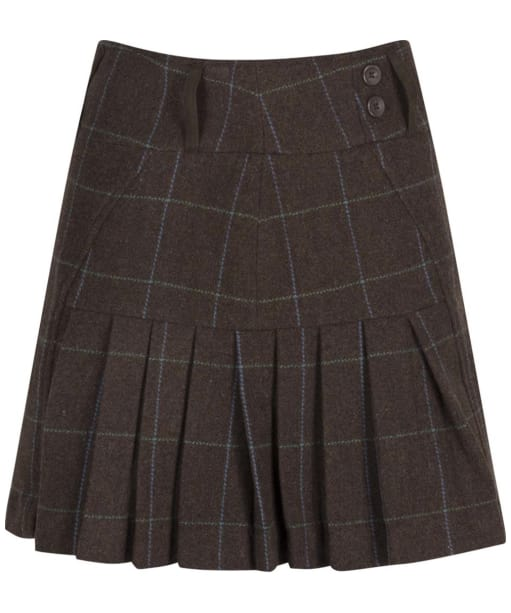 Women's Alan Paine Combrook Pleated Skirt - Dusk Brown