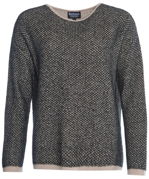 Women's Barbour International Chicara Crew Neck Sweater - Oyster