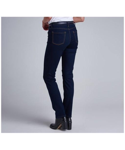 Women's Barbour International Reflector Slim Jeans - Rinse