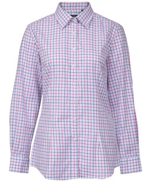 Women's Alan Paine Bromford Check Shirt - Blue / Pink