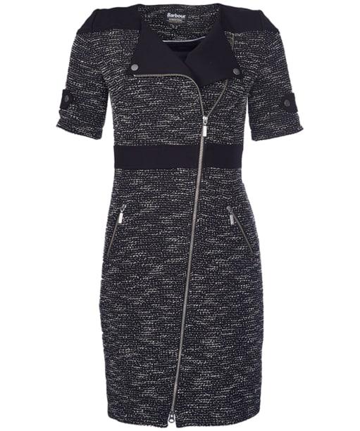Women's Barbour International Thruxton Zip Dress - Black | White