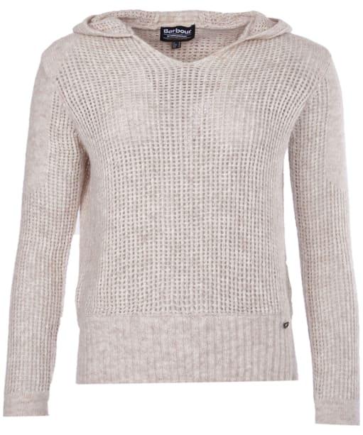 Women's Barbour International Worldcrosser Hooded Sweater - Pearl