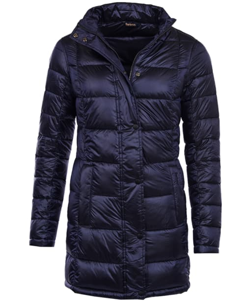 Women's Barbour Clyde Long Quilted Jacket - Navy