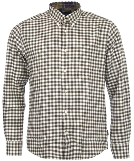Men's Barbour Angus Check Shirt - Olive Marl Check