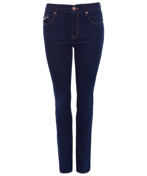 Women's Barbour International Reflector Slim Jeans - Rinse