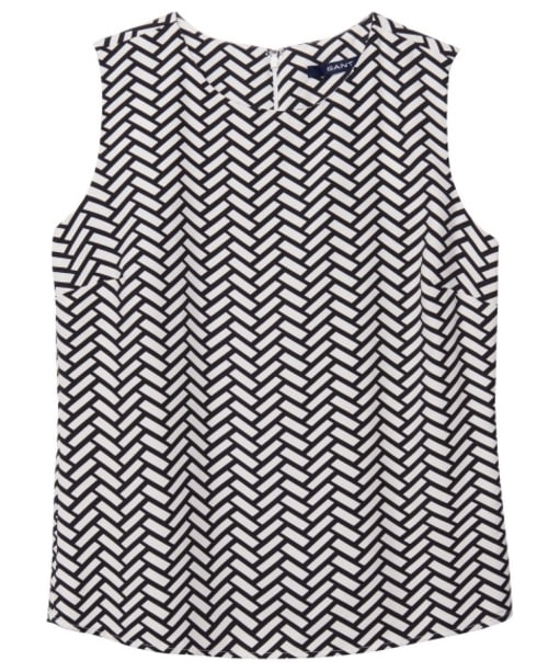 Women's GANT Braid Print Top - Black