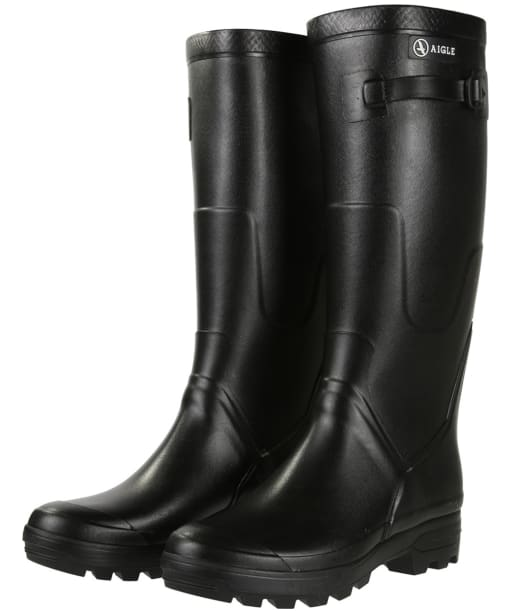 Aigle Benyl Medium Wellington Boots - Black