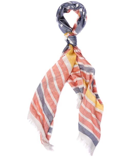 Women's Barbour Sealand Striped Wrap - Blue / Marigold