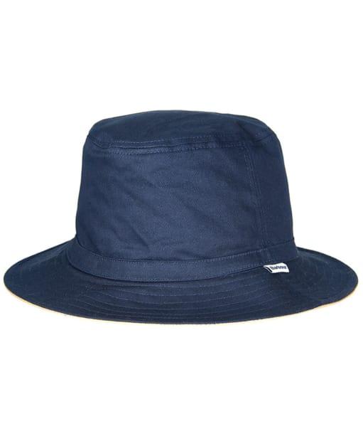 Men's Barbour Reverse Waterproof Sports Hat - Navy / Stone
