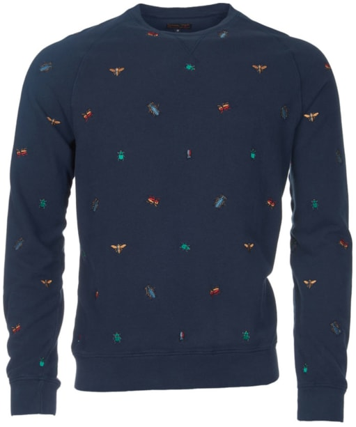Men's Barbour Wadd Crew Neck Sweater - Navy