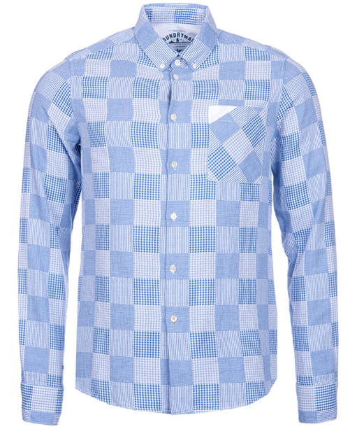 Men's Barbour Multi Laundered Shirt - Colorado Blue Check