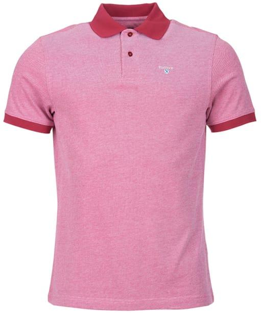 Men's Barbour Sports Polo Mix Shirt - Raspberry