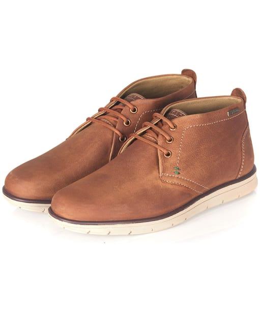 Men's Barbour Bowlam Slip On Shoes - Cognac Nubuck