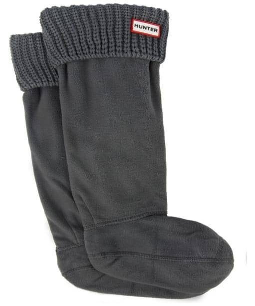 Hunter Half Cardigan Stitch Boot Socks - Dark Slate
