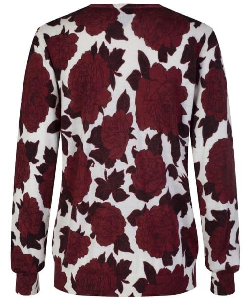 Women's GANT Flower Sweater - Mahogany Red