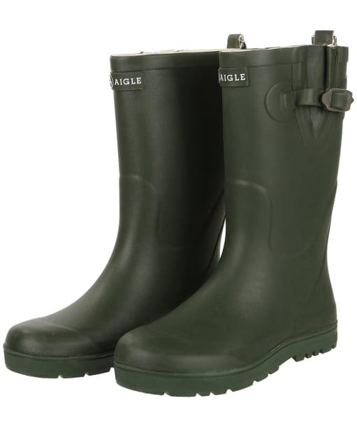 Aigle Kids Woodypop Wellington Boots - Khaki