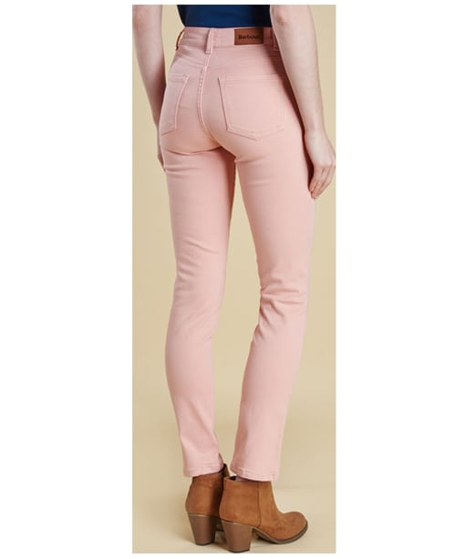 Women's Barbour Essential Slim Trousers - Carnation Pink