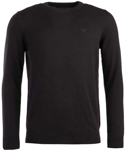 Men's Barbour Pima Cotton Crew Neck Sweater  - Black
