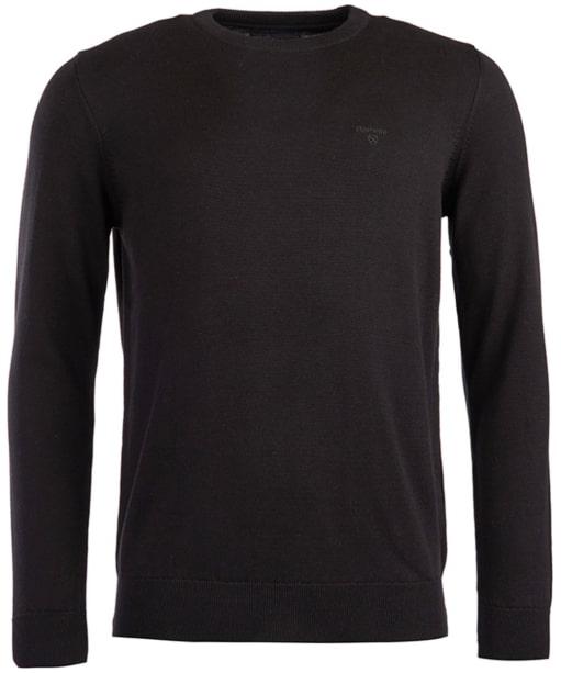 Men's Barbour Pima Cotton Crew Neck Sweater  - Black