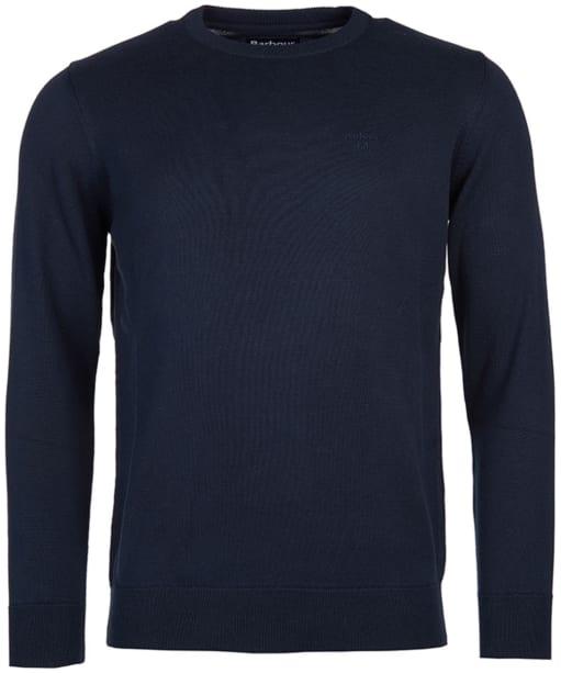 Men's Barbour Pima Cotton Crew Neck Sweater  - Navy