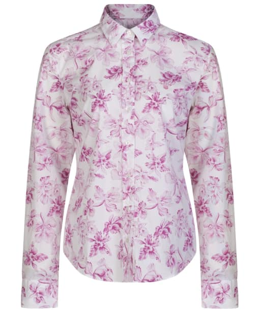 Women's GANT Big Flowered Stretch Shirt - Wild Aster