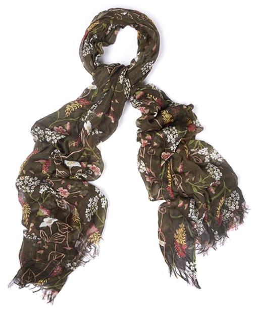 Women's Barbour Floral Bloom Wrap - Olive