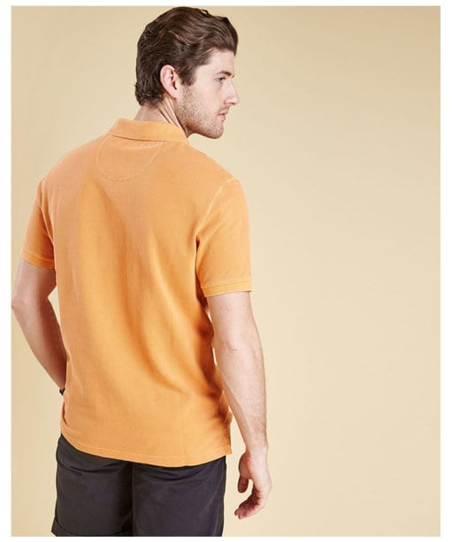 Men's Barbour Washed Sports Polo - Acid Orange