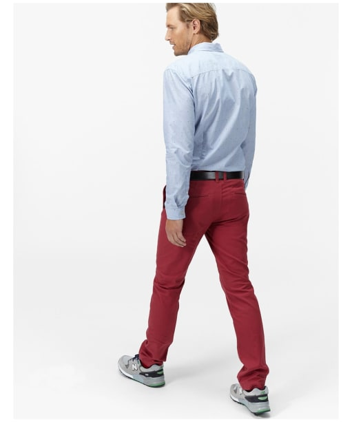 Men's Joules Stretton Chino Trousers - Burnt Red