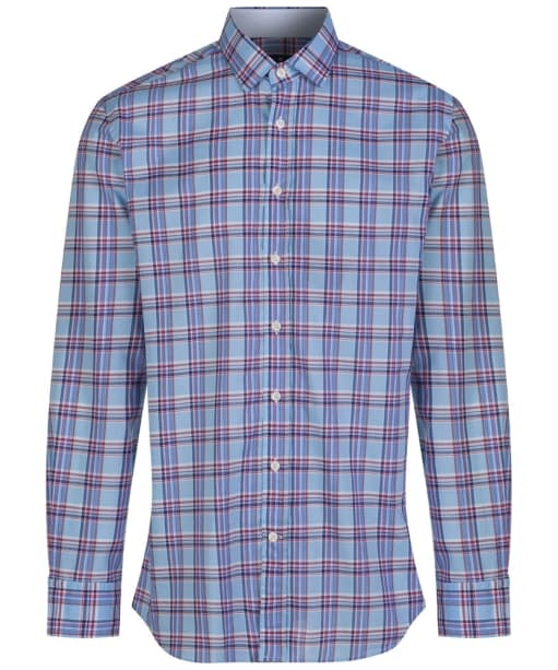 Men's Hackett Bold Check Shirt - Sky / Blue