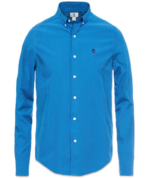 Men's Timberland Rattle River Gingham Poplin Shirt - Blue Print