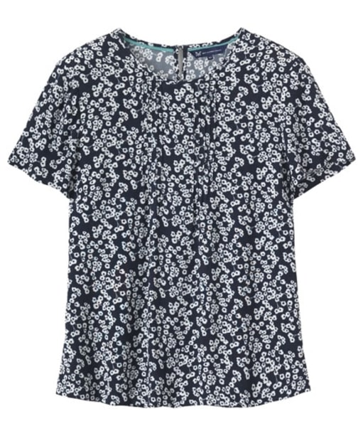 Women's Crew Clothing Bloom Printed Crepe Top - Bloom Navy / White