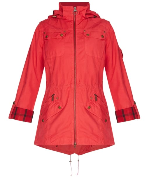 Women's Barbour International Deauville Casual Parka - Chili Red
