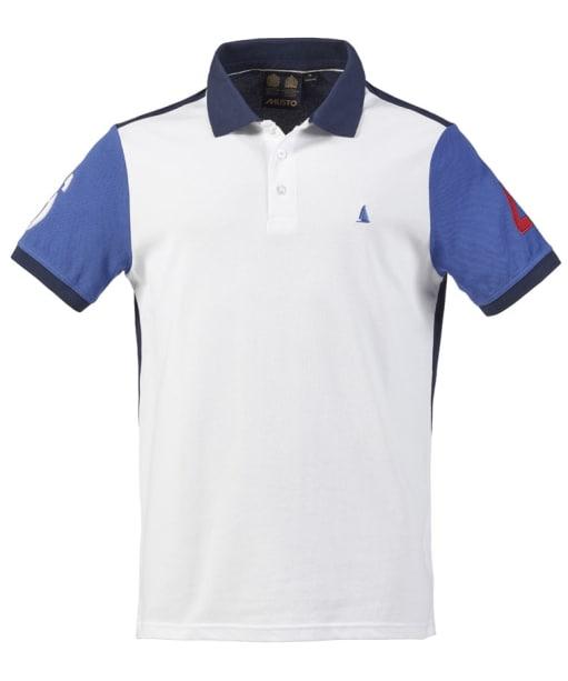 Men's Musto Helmsman Polo - White / Peacoat / Blue