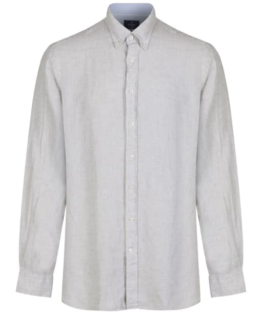 Men's Hackett Plain Linen Shirt - Stone