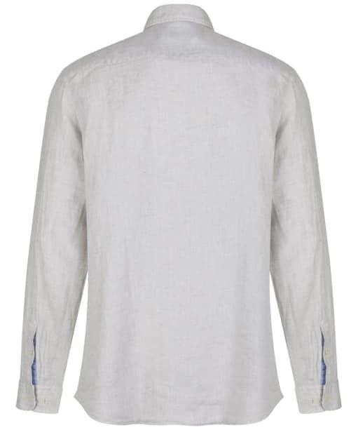 Men's Hackett Plain Linen Shirt - Stone