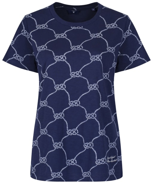 Women's GANT Knotted Rope T-Shirt - Evening Blue