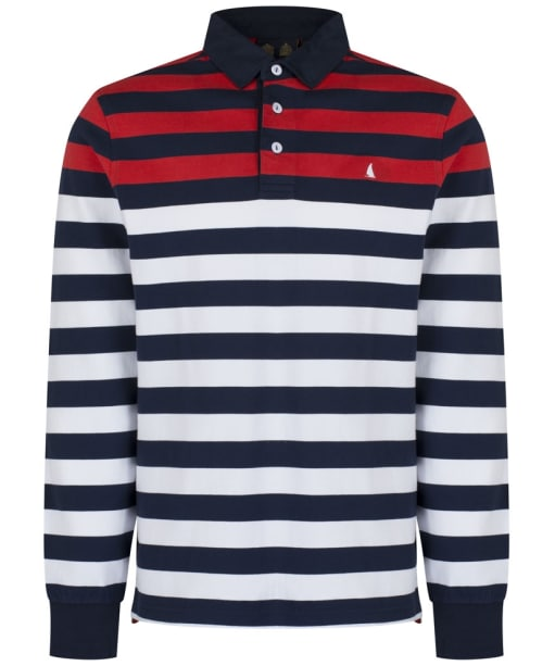 Men's Musto Lawson Stripe Rugby Shirt - True Navy
