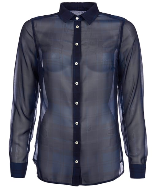 Women's Barbour Strachan Sheer Shirt - Mid Navy