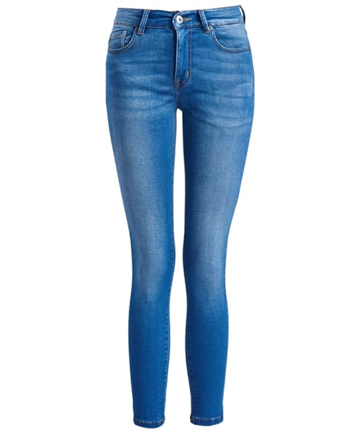 Women's Barbour International Delta Cropped Jeans - Surf Blue
