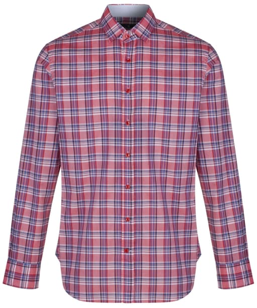 Men's Hackett Bold Check Shirt - Red / Navy