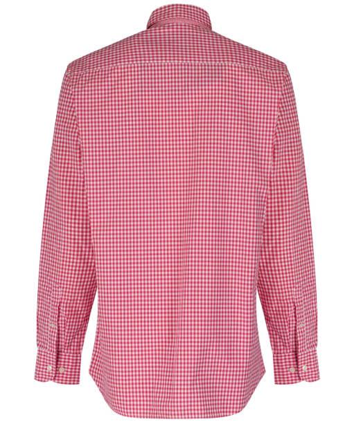 Men's Hackett Multi Gingham Shirt - Coral / Ecru