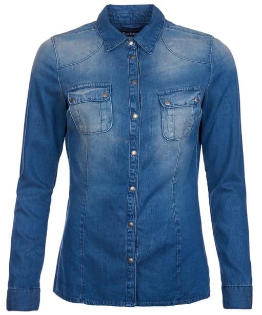 Women's Barbour International Broton Shirt - Surf Blue